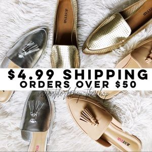 $4.99 SHIPPING on your purchase of $50+